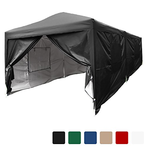 Quictent privacy 10×20 Feet Mesh Curtain EZ Pop Up Party Tent Canopy Gazebo 100% Waterproof-6 Colors (Black)