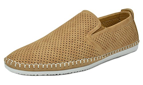 Bruno Marc SLEEKER Men's Classy On The Go Driving Casual Loafers Boat Moccasins Shoes TAN SIZE (Tan Casual Loafers)
