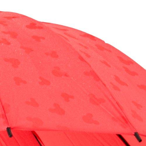 Disney/ディズニーMickeyMode ミッキーモード ミッキー傘 雨に濡れるとミッキーが出てくる不思議な傘 (レッド)撥水ディズニー傘 ワンタッチ長傘