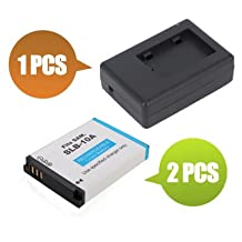 Battpit™ New 2x Digital Camera Battery + 1x Charger Replacement for Samsung WB350F (1050 mAh) (Ship from Canada)