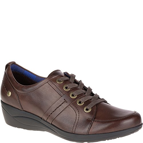 Dark Champion Women's Shoe Leather Puppies Lace Oleena Brown Hush Up B04fqwnE