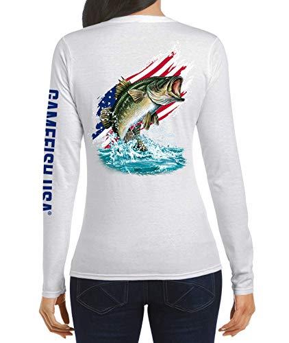 Download GAMEFISH USA Long Sleeve Fishing Shirt American Flag Bass ...