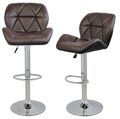 Merax Faux Leather Swivel Chair Adjustable Cafe Bar Stools