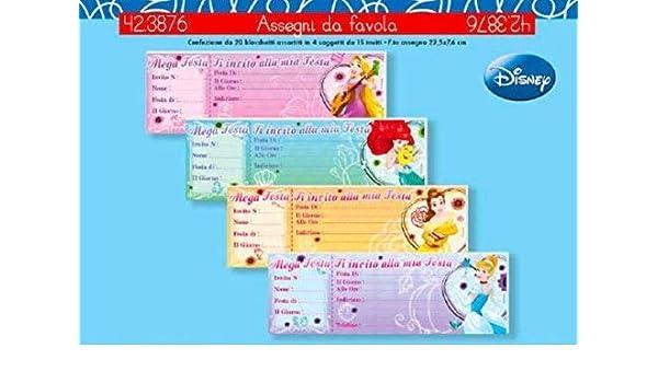 1 Pezzo Bloque Libro de 15 Invitaciones Cumpleaños Princesas ...