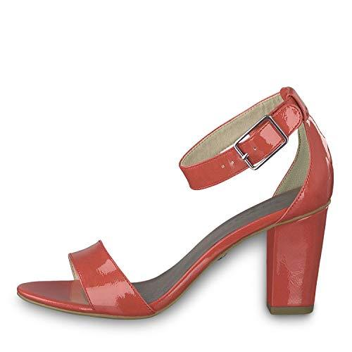 fire Tamaris Para 632 Rojo Con Patent Mujer Pulsera Sandalia 1 22 1 28018 vwq1vrU