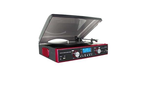 Bigben Interactive - Tocadiscos USB, color negro y rojo: Amazon.es ...