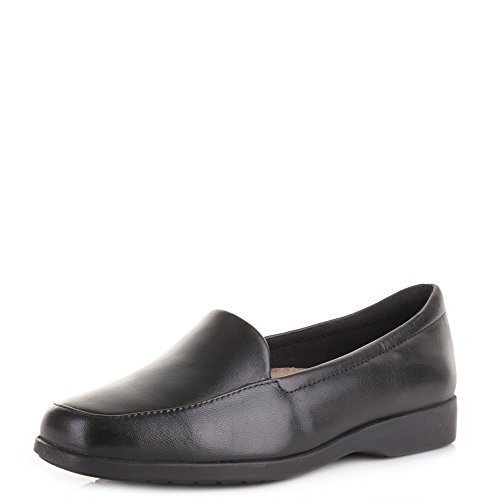 94f986df3fa Womens Clarks Georgia Black Real Leather Slip On Comfort Work Quality Shoes  SIZE 7  Amazon.co.uk  Shoes   Bags