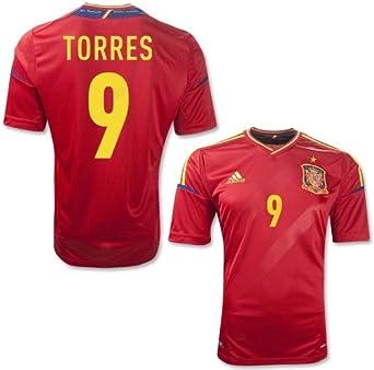 espectro Árbol de tochi Sudán  Amazon.com: Adidas Torres #9 Spain Home 2012 Jersey (2XL): Clothing