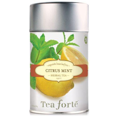 Tea Forte CITRUS MINT Loose Leaf Organic Herbal Tea, 1.76 Ounce Tea Tin -  3910228
