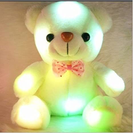 Amazon.com : Colorful Stuffed Glow Bear LED Pillow Mini Star Toy Teddy Bear Plush Animal Toys For Children 2014 Newest : Baby