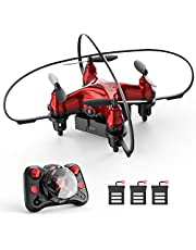 $25 » Holyton HT02 Mini Drone for Kids Beginners, Easy Pocket RC Quadcopter with Altitude Hold, 3D Flips, 3 Speed Modes, 3 Batteries, Headless Mode, Protection Guards and Emergency Stop, Gift for Boys Girls