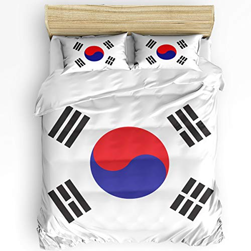 YEHO Art Gallery Twin Size Luxury 3 Piece Duvet Cover Sets for Boys Girls,Pattern Gossip Bedding Set,Include 1 Comforter Cover with 2 Pillow Cases