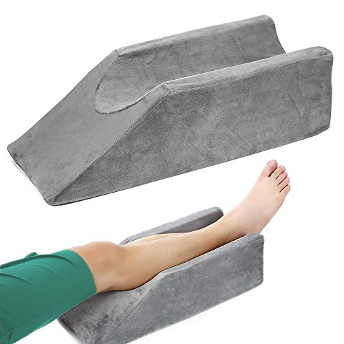 Elevation Pillow Foam Bed Wedge for Legs Sleeping Elevated Pillows Ortho Cushion Riser Knee Ankle Support Rest Legs Bolster Elevator Elevating Cushions Elevate Feet Protector After Surgical Recovery