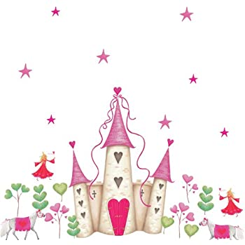 RoomMates YH1328M Princess Castle Peel U0026 Stick Giant Wall Decal