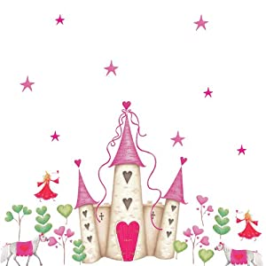 Roommates Repositionable Childrens Wall Stickers Princess