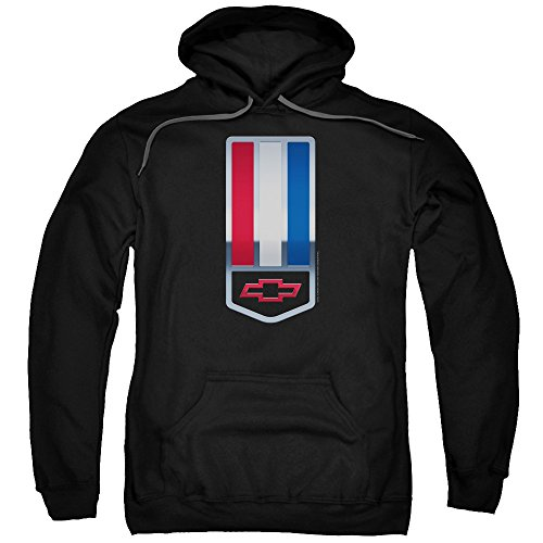 Chevrolet 1998 Camaro Nameplate Unisex Adult Pull-Over Hoodie for Men and Women, Small Black