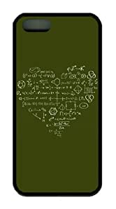 Science Knowledge in Heart Shape Iphone5/5S Black Sides Rubber Shell TPU Case by Sakuraelieechyan