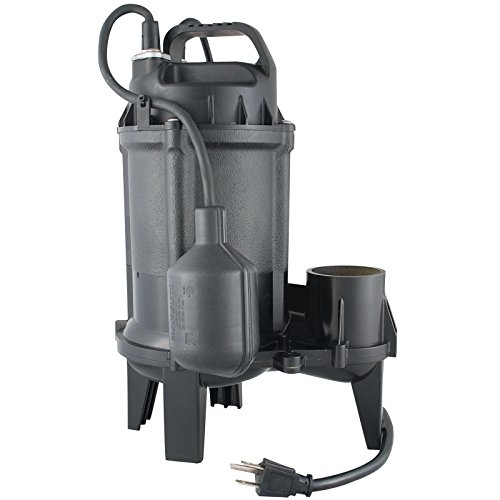 Star 50TC 1/2 HP Cast Iron Submersible Sewage Pump with Tethered Float Switch