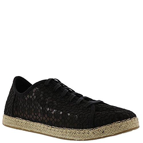 TOMS Women's Lena Crochet and Lace Sneaker, Size: 6.5 B(M) US, Color Black Mosaic Mesh -