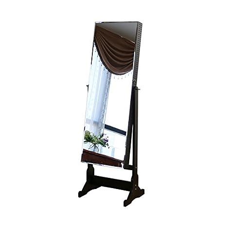 Amazon.com: Jeco 58-inch Jewelry Armorie/Floor Mirror Espresso Wood ...