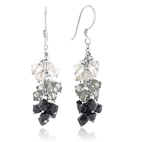clear crystal earrings dangle - 7