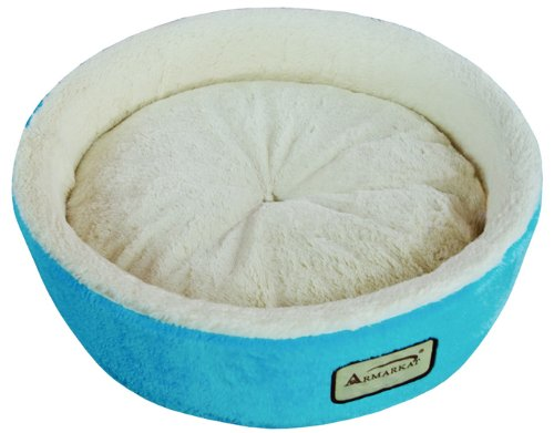 41 cfk1JszL - Armarkat Round or Oval Shape Pet Cat Bed for Cats and Small Dogs