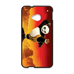 HTC One M7 Cell Phone Case Black Kung Fu Panda NDK Protective Durable Case