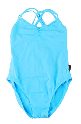 - Miwu princeness Ballet Kids Dancing Pinch-Front Camisole Leotard with Double Strap Slim Solid for Girls Gymnastics (150, Blue)
