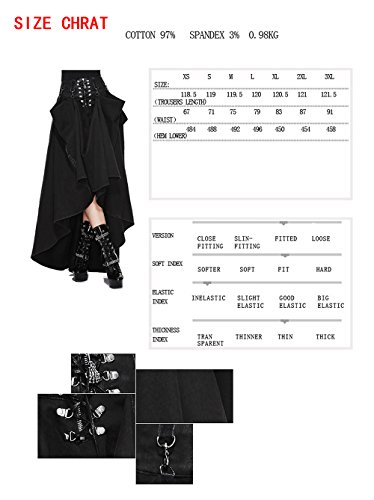 7 Spitzenkleid Sizes Mode Devil Damen Schlank Sommerrock Fashion Rock Gothic Kleid Langer Punk 1F55Pq4Hw