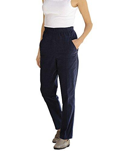 National Pull-on Corduroy Pants, Navy, 10