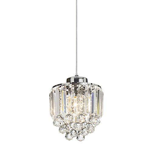 - COTULIN polished pendant light Decorative Pendant Lighting Fixture Cord Adjustable Crystal Chandelier Pendant Light, Ceiling light For Living Room Dining Room Bar