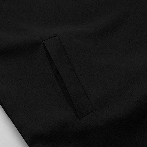 Dcontract Manches Manches Sans Noir tops Femmes courtes Solide Plain Dress robe Boyfriend 7dw4CqO