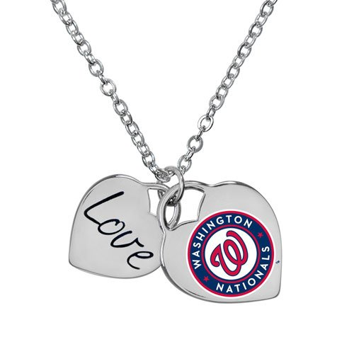 (Game Time Offical MLB WASHINGTON NATIONALS Heart Necklace)