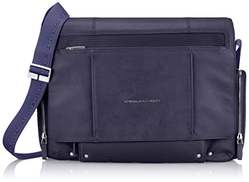 Piquadro Computer Messenger with iPad Compartment, Dark Blue, One Size by Piquadro