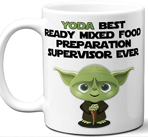 Funny Gift For Ready Mixed Food Preparation Supervisor. Yoda Best Employee Ever. Cute, Star Wars Themed Unique Coffee Mug, Tea Cup Idea for Men, Women, Birthday, Christmas, Coworker. ()