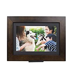 PhotoShare Friends and Family Smart Frame Digital Photo Frame, Send Pics from Phone to Frame, WiFi, 8 GB, Holds Over 5,000 Photos, HD, 1080P, iOS, Android (10.1, Espresso)