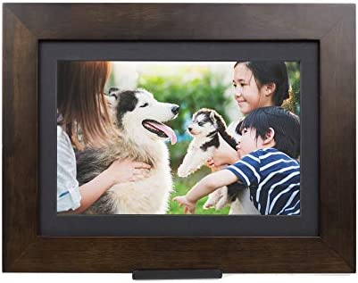 PhotoShare Friends and Family Smart Frame Digital Photo Frame, 1-5 Day Shipping, Send Pics from Phone to Frame, WiFi, 8 GB, Holds Over 5,000 Photos, HD, 1080P, iOS, Android 10.1 , Espresso