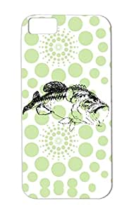 Fish Fishing Black Fisher River Marine Life Lake Relaxing Grandpa Fishing Bass Fich Fish Animals Nature For Iphone 5c Protective Case