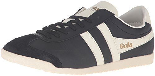 Off Leather Footwear (Gola Men's Bullet Leather Fashion Sneaker, Black/Off White, UK 9/US)