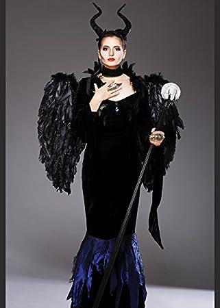 Mujer Maléfica disfraz de estilo gótico con alas XL (UK 18 – 20 ...