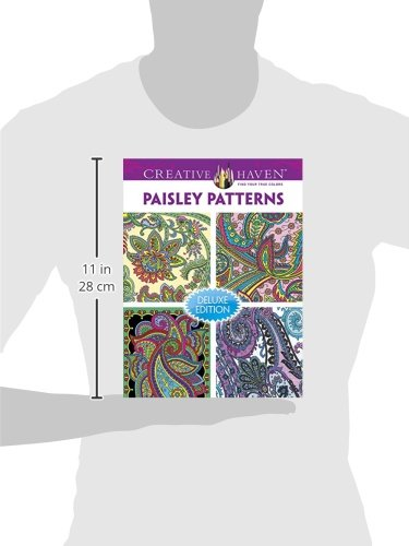 Creative Haven PAISLEY PATTERNS Coloring Book Deluxe