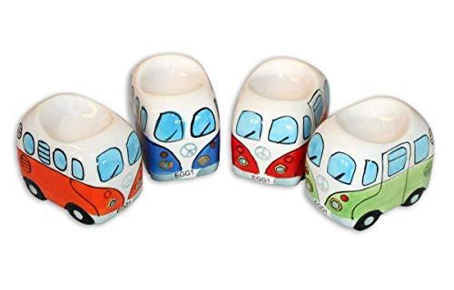 41 Camper Bus 4-TLG. Eierbecherset aus Keramik in 4