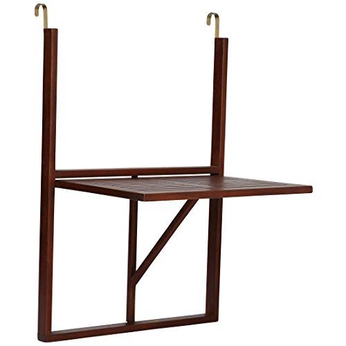 Ultranatura Balkontisch, Holz Hängetisch, klappbar, Canberra-Serie