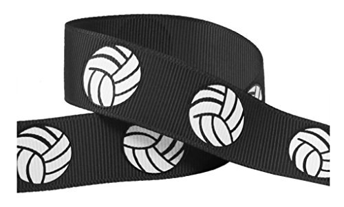 Volleyball Ribbon for Crafts - Q-YO 3/8
