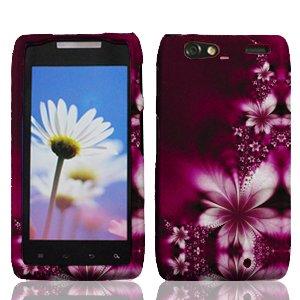 (For Motorola Droid Razr Maxx XT916 Accessory - Purple Daisy Design Hard Protective Case Cover)