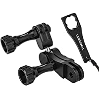 Luxebell Ball Joint Mount, Aluminium Swivel Arm Mount with Wrench for GoPro Hero 5 4 3+ 3 2
