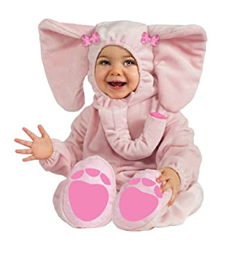 Rubie's Costume Cuddly Jungle Ella-Fun Pink Elephant Romper Costume