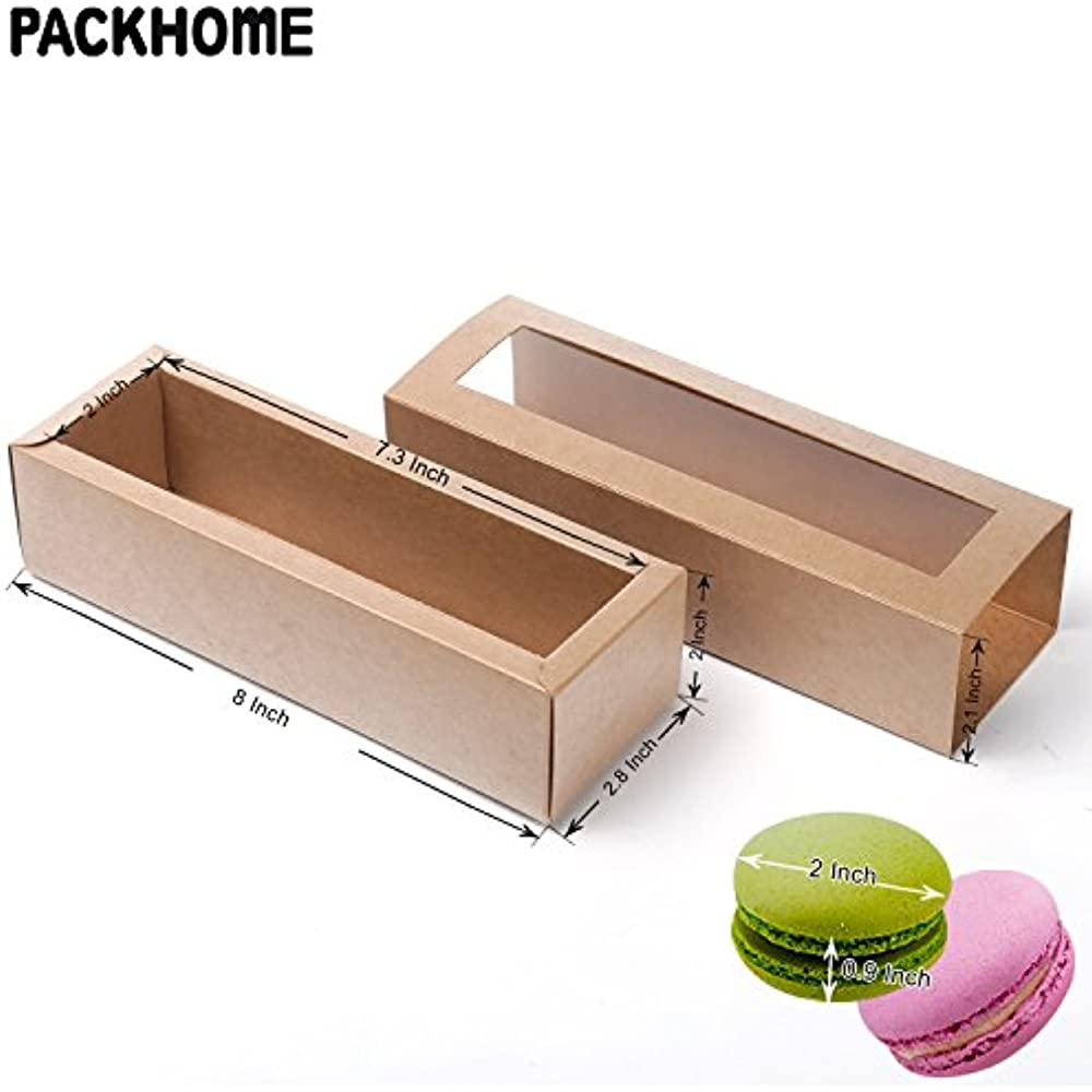 Macaron Boxes Macarons Box For 6 Macaroon Packaging Boxes With Clear Window Baking Accs. & Cake Decorating Other Baking Accessories
