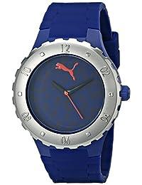 PUMA Women's PU103432003 Blast S Camo Blue Analog Display Quartz Blue Watch