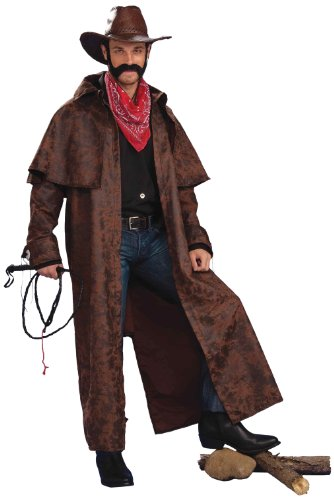 Forum Novelties Men's Texas Cowboy Duster Coat Adult Costume, Brown, Standard
